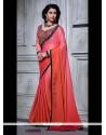 Orphic Embroidered Work Pink Designer Saree