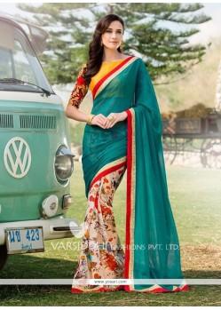 Magnetic Georgette Multi Colour Designer Saree