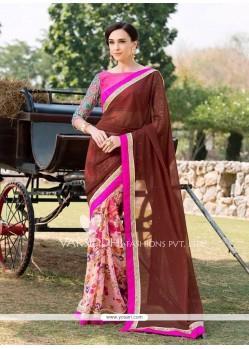 Phenomenal Georgette Multi Colour Sequins Work Designer Saree