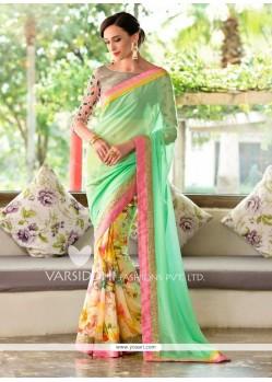 Lustre Print Work Designer Saree