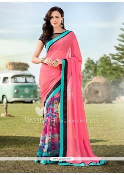 Appealing Sequins Work Multi Colour Designer Saree