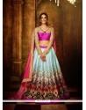 Transcendent Multi Colour Resham Work A Line Lehenga Choli