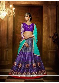 Charismatic Banglori Silk Multi Colour A Line Lehenga Choli
