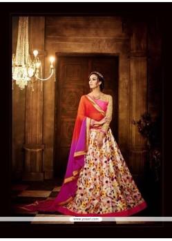 Impeccable Embroidered Work Multi Colour Banglori Silk A Line Lehenga Choli