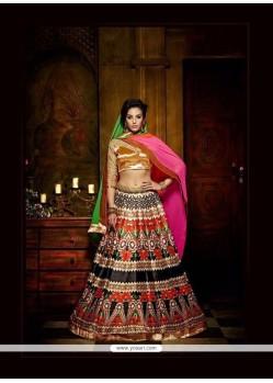 Deserving Multi Colour Banglori Silk A Line Lehenga Choli