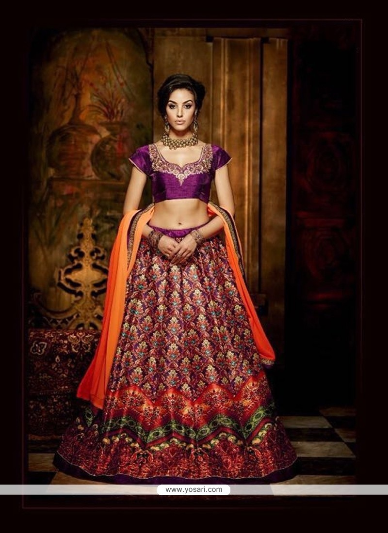 Imposing Banglori Silk A Line Lehenga Choli