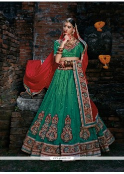Debonair Net Patch Border Work A Line Lehenga Choli