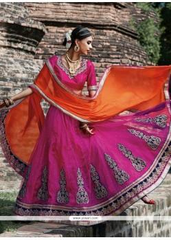 Charming Net Resham Work A Line Lehenga Choli