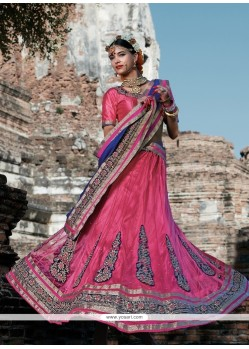 Absorbing Hot Pink A Line Lehenga Choli