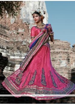 Absorbing Hot Pink A Line Lehenga Choli