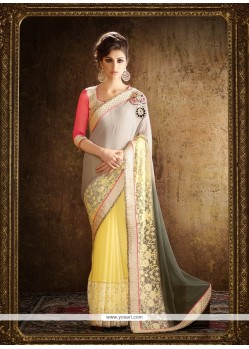 Vibrant Designer Saree For Festival