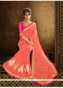 Vivid Embroidered Work Designer Saree