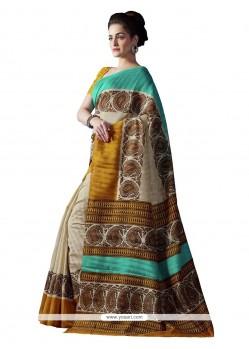Observable Bhagalpuri Silk Print Work Casual Saree