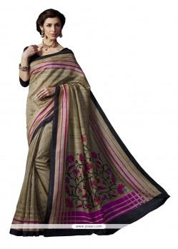 Grandiose Multi Colour Print Work Casual Saree