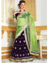 Purple Booti Enhanced Velvet Lehenga Choli
