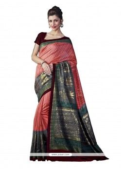 Gripping Print Work Multi Colour Casual Saree