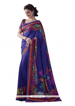 Outstanding Print Work Casual Saree