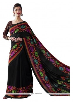 Entrancing Bhagalpuri Silk Multi Colour Print Work Casual Saree