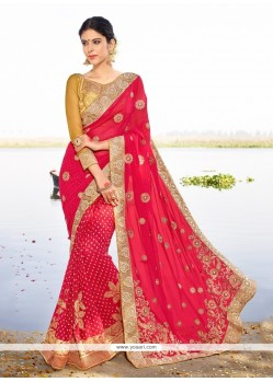 Fascinating Georgette Magenta Designer Saree
