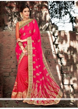 Superlative Patch Border Work Designer Saree