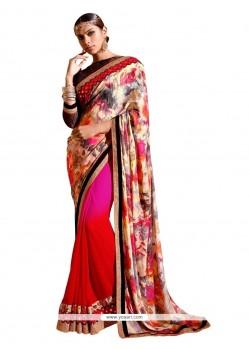 Lustre Patch Border Work Designer Saree