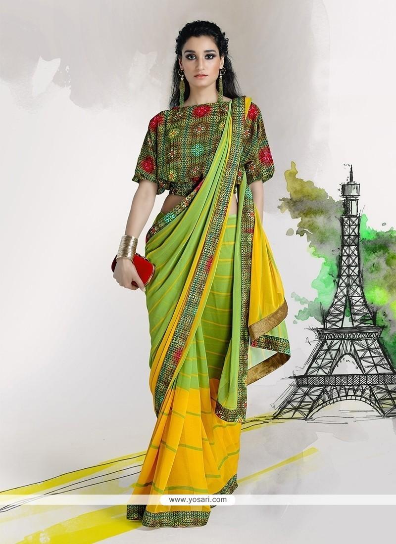 Impeccable Georgette Designer Saree