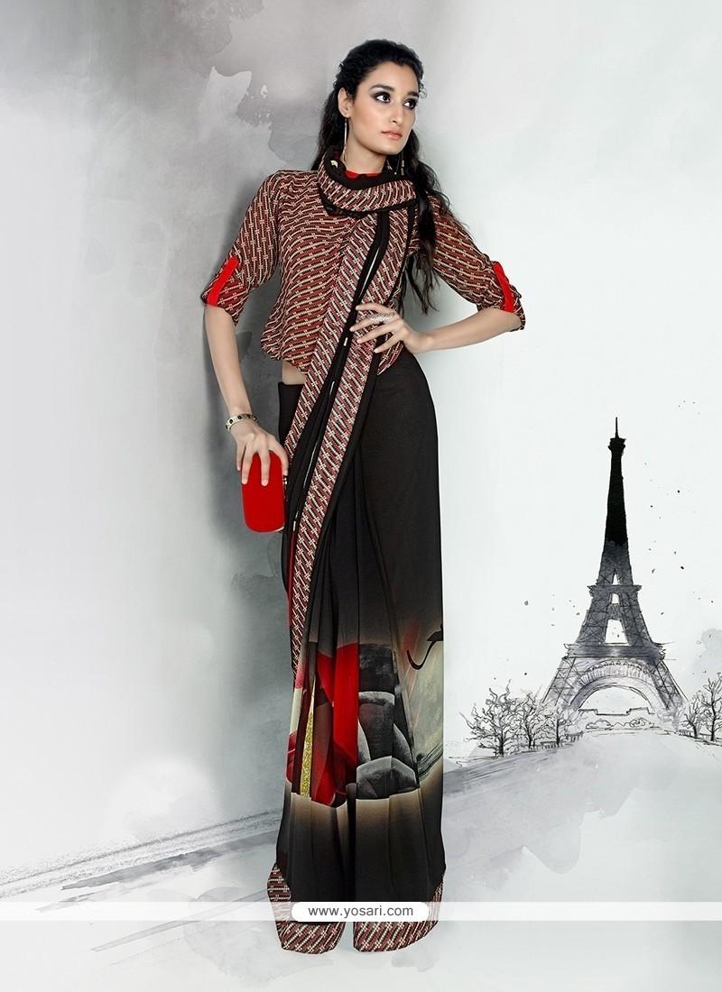 Arresting Georgette Multi Colour Designer Saree