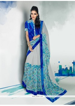 Chic Georgette Designer Saree