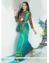 Capricious Georgette Multi Colour Designer Saree