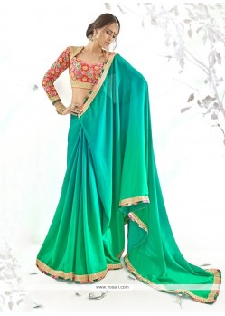 Chic Embroidered Work Georgette Designer Saree