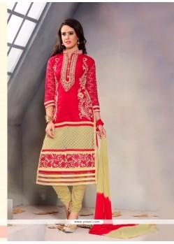 Refreshing Cotton Churidar Designer Suit
