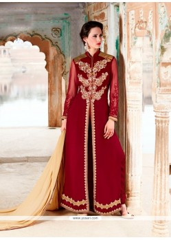 Ideal Patch Border Work Georgette Designer Suit