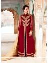 Ideal Patch Border Work Georgette Designer Suit