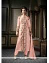 Grandiose Pink Patch Border Work Silk Designer Suit