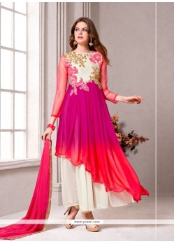 Preferable Resham Work Georgette Multi Colour Designer Suit