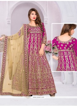 Radiant Banglori Silk Pink Resham Work Designer Suit