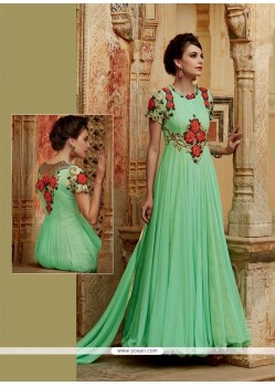 Bewitching Sea Green Designer Suit