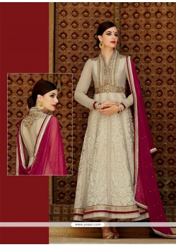 Observable Resham Work Cream Designer Suit