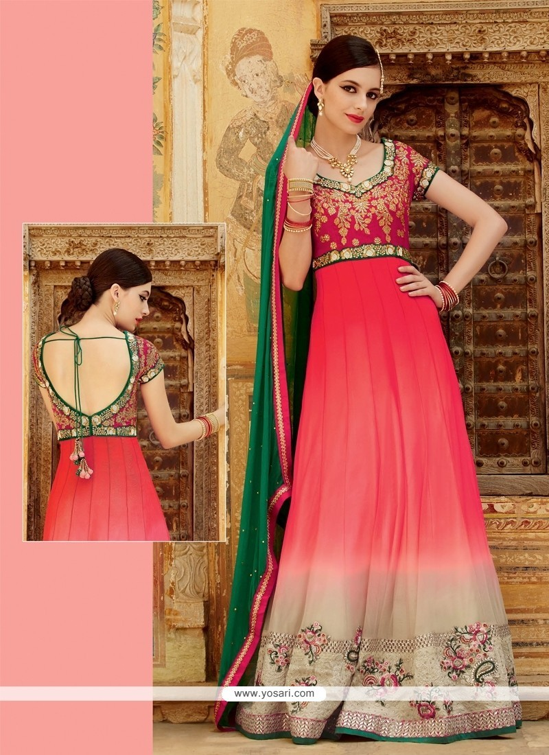 Outstanding Net Resham Work Designer Suit
