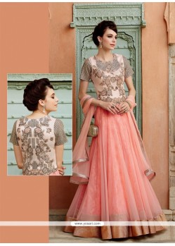 Vivacious Net Embroidered Work Designer Suit