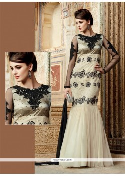 Lively Resham Work Net Designer Suit