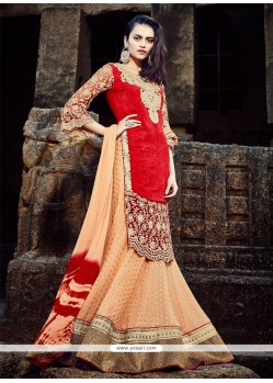 Exceeding Jacquard Embroidered Work A Line Lehenga Choli