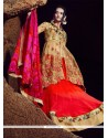 Fantastic Patch Border Work A Line Lehenga Choli