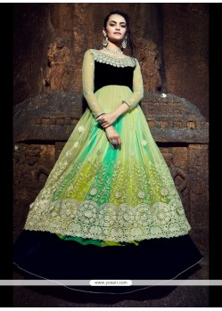 Capricious Embroidered Work A Line Lehenga Choli
