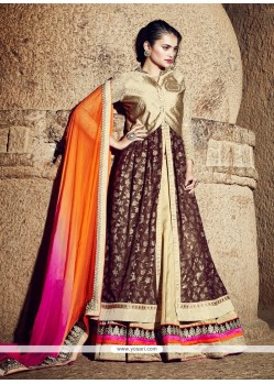 Fine Georgette Brown A Line Lehenga Choli