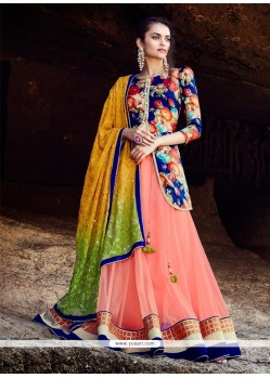 Best Patch Border Work Multi Colour A Line Lehenga Choli