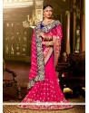 Sightly Georgette Hot Pink Classic Designer Saree