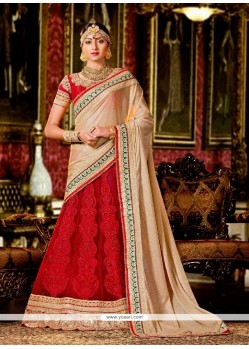 Majesty Georgette Lehenga Saree