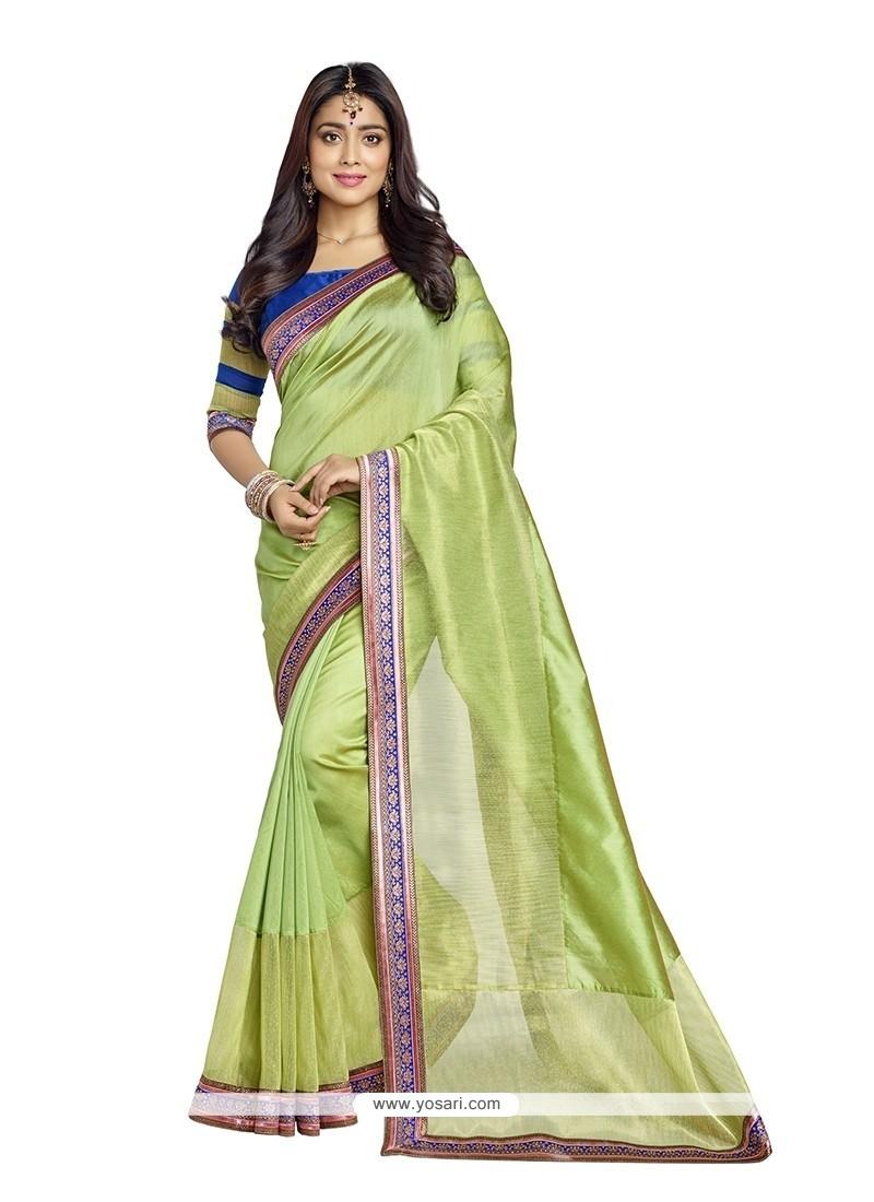 Modernistic Banarasi Silk Embroidered Work Designer Saree