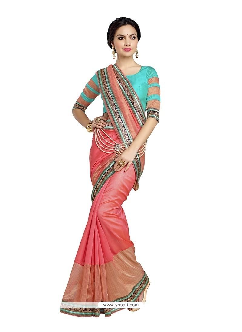 Noble Banarasi Silk Patch Border Work Designer Saree